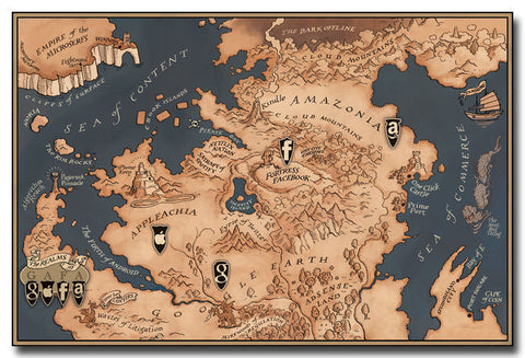Map Of Game Of Thrones TV Series Silk Poster 24x36 inches