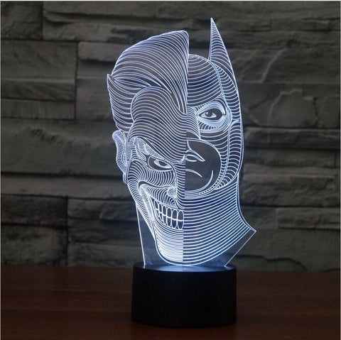 3D Illusion Bulb Lamp Double face LED Night Light