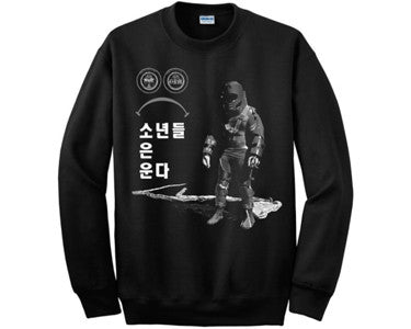 "ORMOLYCKA X TRAITOR SEOUL | ""BOYS DO CRY"" CREWNECK SWEATSHIRT 