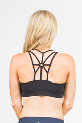 Dream Catcher Sport Bra - Black