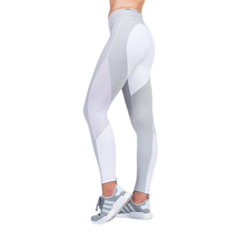 Grey & White Heart Booty Leggings