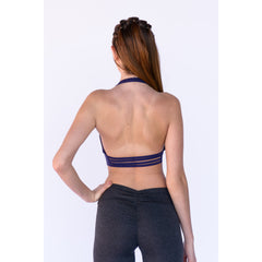 Mia Brazilia Halter Sports Bra- Purple
