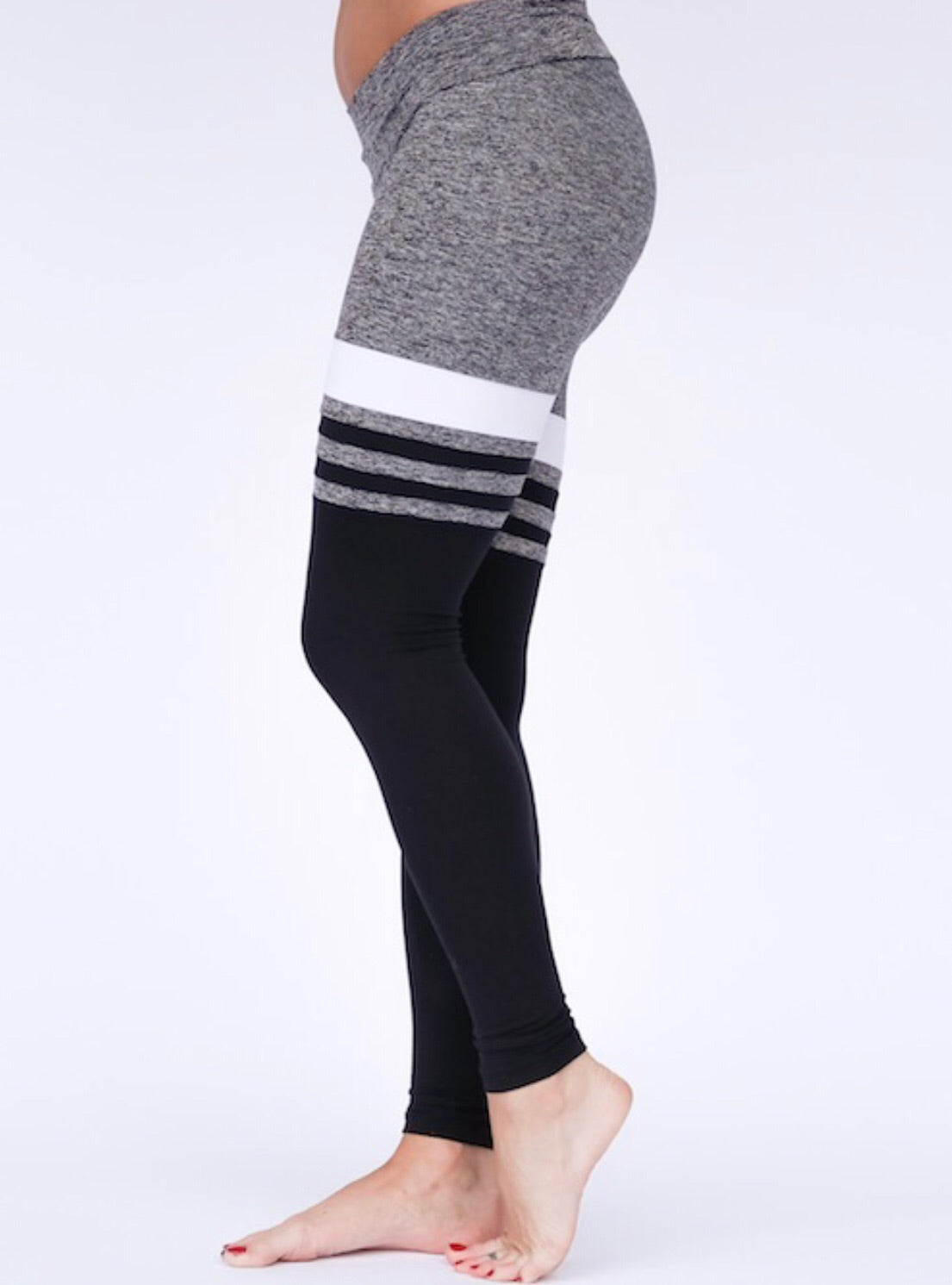 Mia Brazilia Baseball Legging -Light Grey/Black