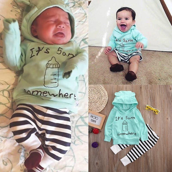 It's 5 A.M. Somewhere | 3-24M, Outfits - Rock A Bye Baby Co.