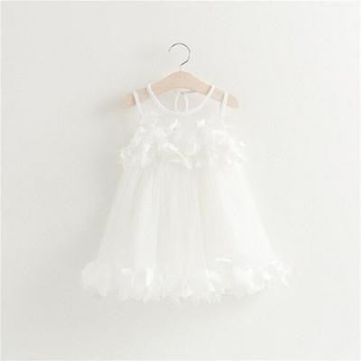 Floral Petal Party Dress | 12M-5T, Dresses - Rock A Bye Baby Co.