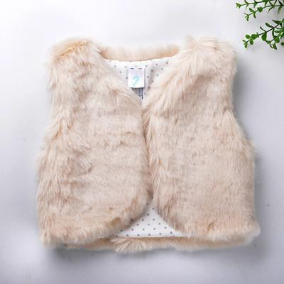 Baby Girl Faux Fur Fashion Vest | 3M-3T, Tops - Rock A Bye Baby Co.
