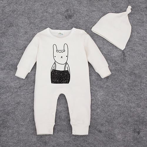 Bunny Romper | 0-12M, Rompers - Rock A Bye Baby Co.