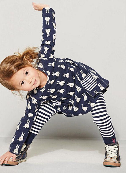 Bunny Dress & Striped Leggings | 12M-5T, Outfits - Rock A Bye Baby Co.