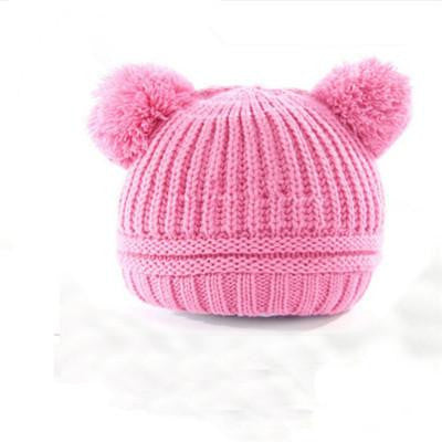 Knitted Pom Pom Hat, Christmas Outfits - Rock A Bye Baby Co.