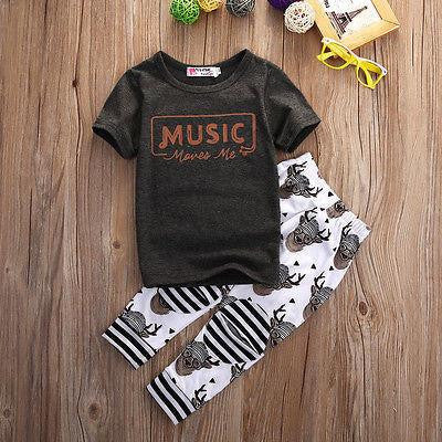 Music Moves Me Clothing Set | 12M-5T, Outfits - Rock A Bye Baby Co.