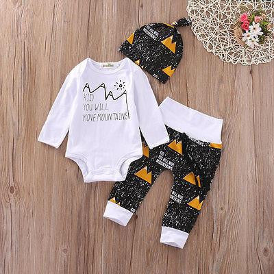 You Will Move Mountains Clothing Set | 0-18M, Outfits - Rock A Bye Baby Co.