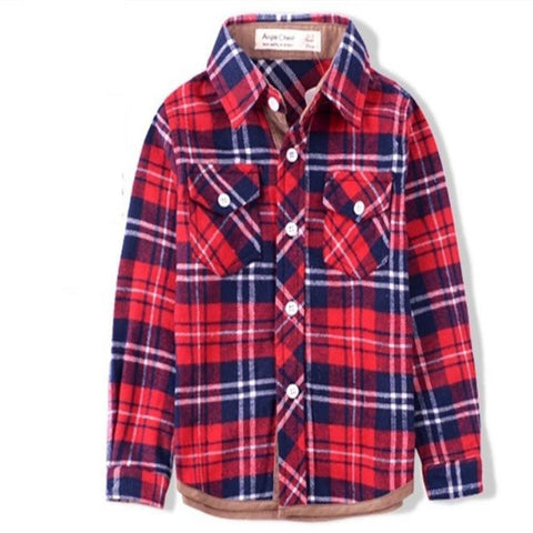 Boys Fashion Autumn Plaid Flannel Shirt | 2-8T, Outfits - Rock A Bye Baby Co.