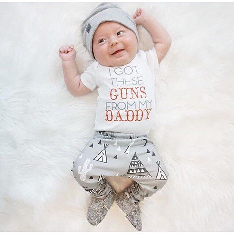 I Got These Guns From Daddy Outfit | 3-24M