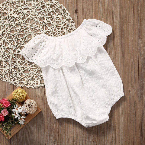 Bohemian Babe Lace Off-The-Shoulder Onesie | 0-24M