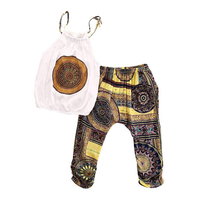 Bohemian Girls Mandala Outfit | 2-6T, Outfits - Rock A Bye Baby Co.