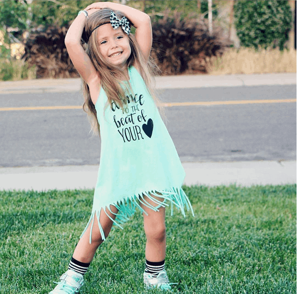 Dance To The Beat Of Your Heart Fringe Dress | 12M-5T, Dresses - Rock A Bye Baby Co.