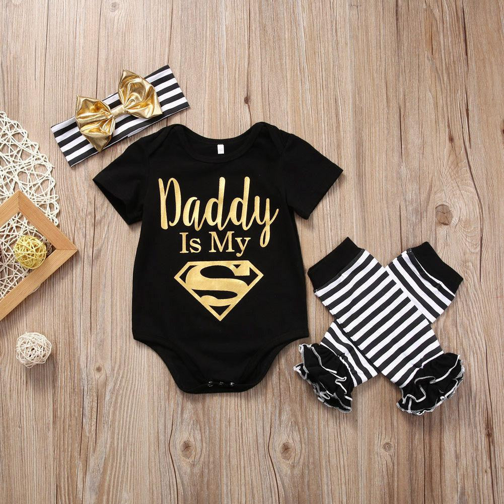 Daddy Is My Superhero | 3-18M, Outfits - Rock A Bye Baby Co.