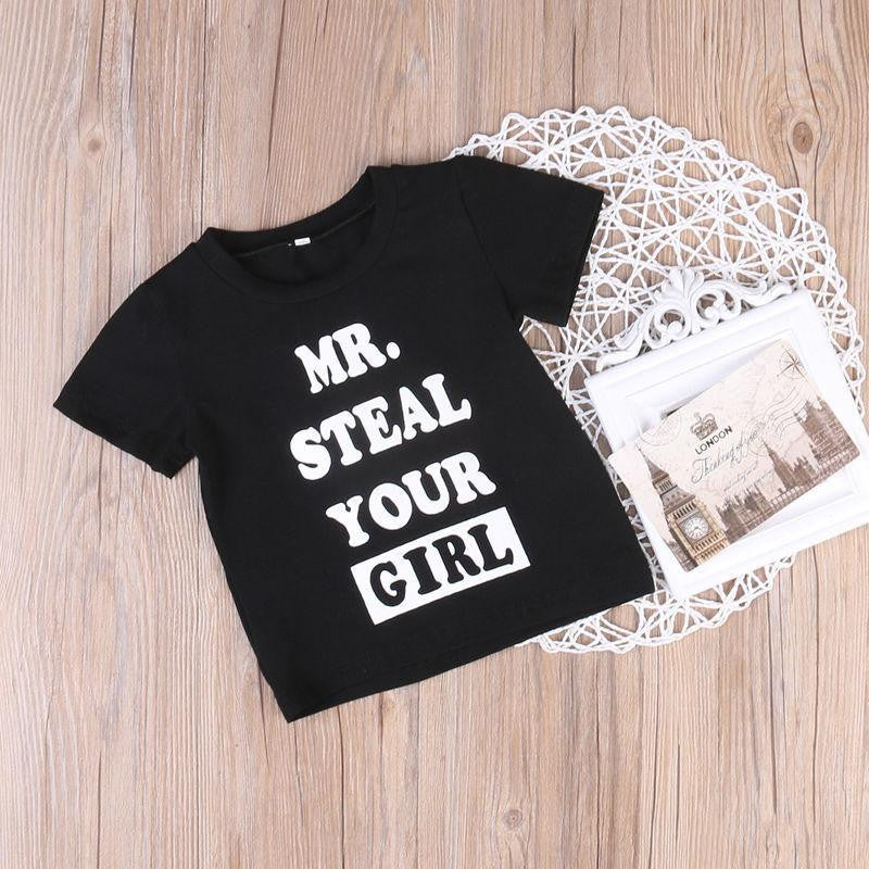 Mr. Steal Your Girl T-shirt | 12M-5T, Tops - Rock A Bye Baby Co.
