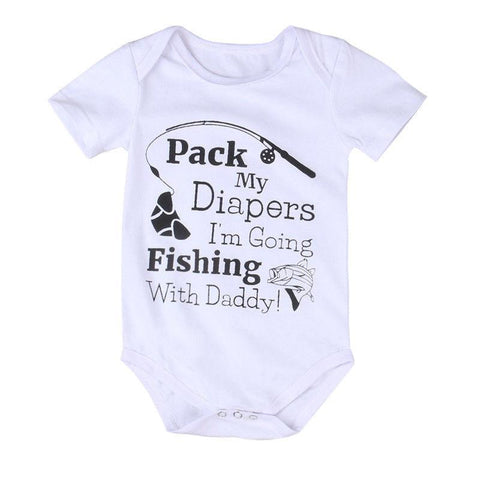 Fishing With Daddy Romper | 0-24M