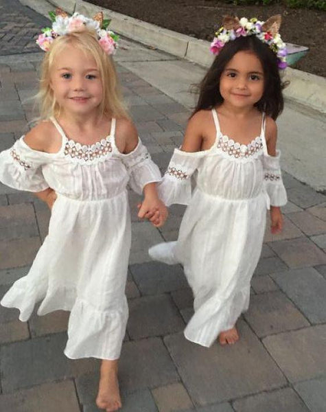 Off Shoulder White Lace Dress | 2-6T, Dresses - Rock A Bye Baby Co.