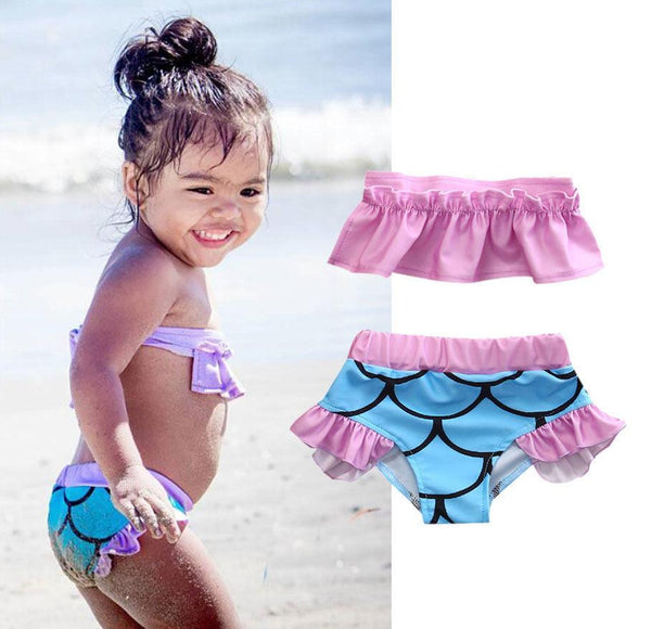 Mermaid Ruffle Swimsuit | 2-6T, Swimsuits - Rock A Bye Baby Co.