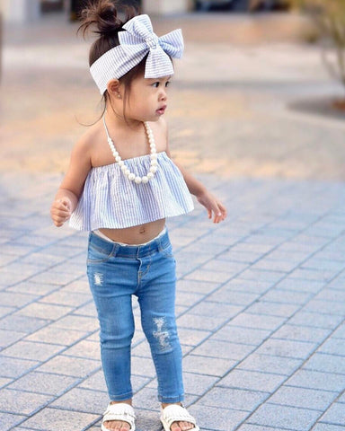 Toddler Off Shoulder Spring Outfit | 12M - 6T