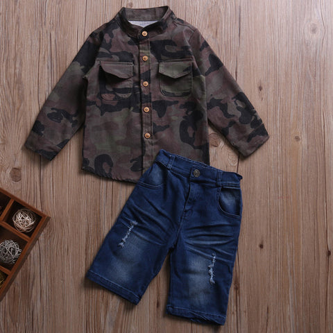 Camo Button Up 2-Piece Clothing Set | 12M-6T