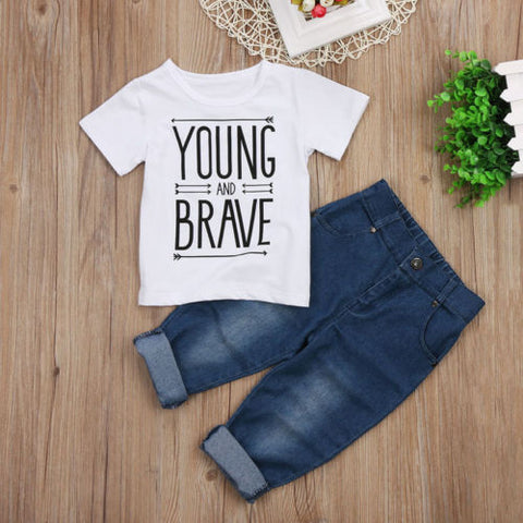 Young & Brave 2 PCs Clothing Set | 12M-4T