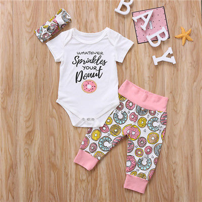 Whatever Sprinkles Your Donut 3 PCs Clothing Set | 3-18M
