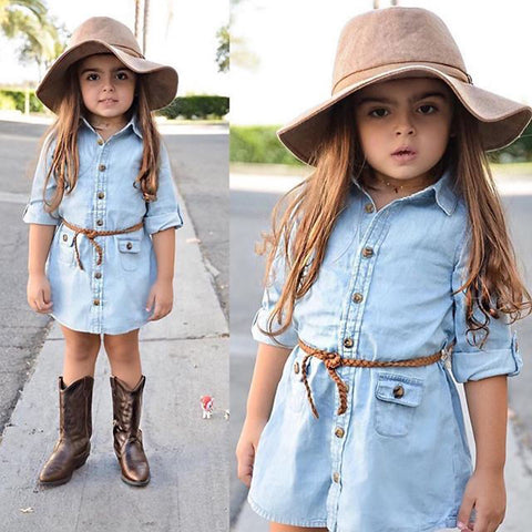 Denim Toddler Dress | 2-6T