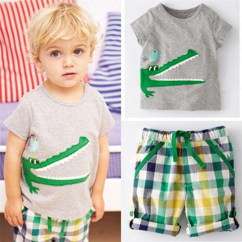 Crocodile Boys Toddler Clothing Set | 2-7T, Outfits - Rock A Bye Baby Co.