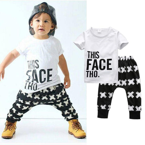 This Face Though Clothing Set | 9M-4T, Outfits - Rock A Bye Baby Co.