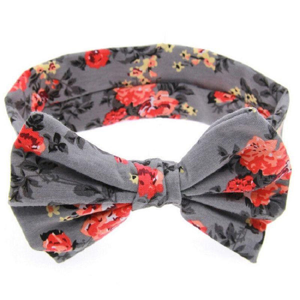 Floral Bow Baby Headband, Headbands - Rock A Bye Baby Co.
