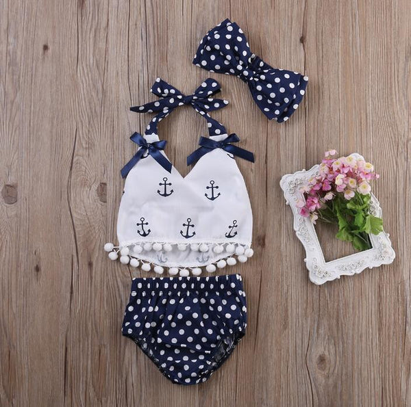Summer Sailor Outfit | 3-24M, Outfits - Rock A Bye Baby Co.