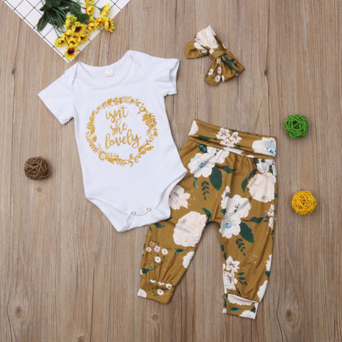 Isn't She Lovely Boho Print Newborn Clothing Set | 3-18M