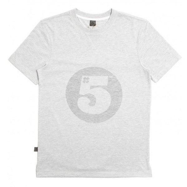 #5 Fitted T-Shirt Grey Marl