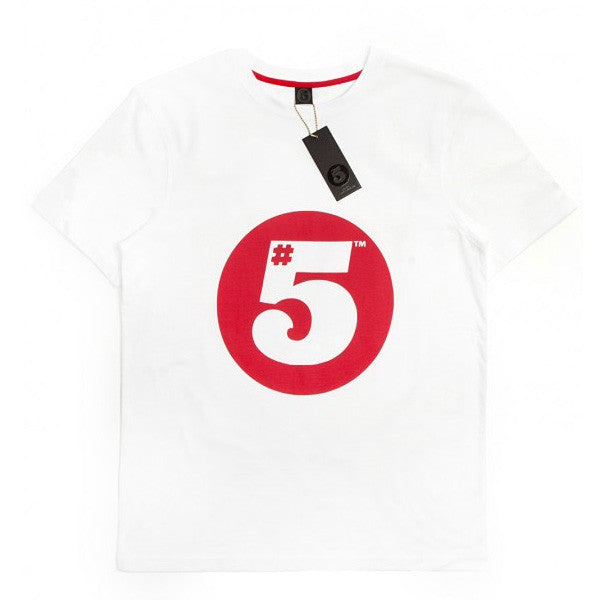 #5 T-Shirt White/Red