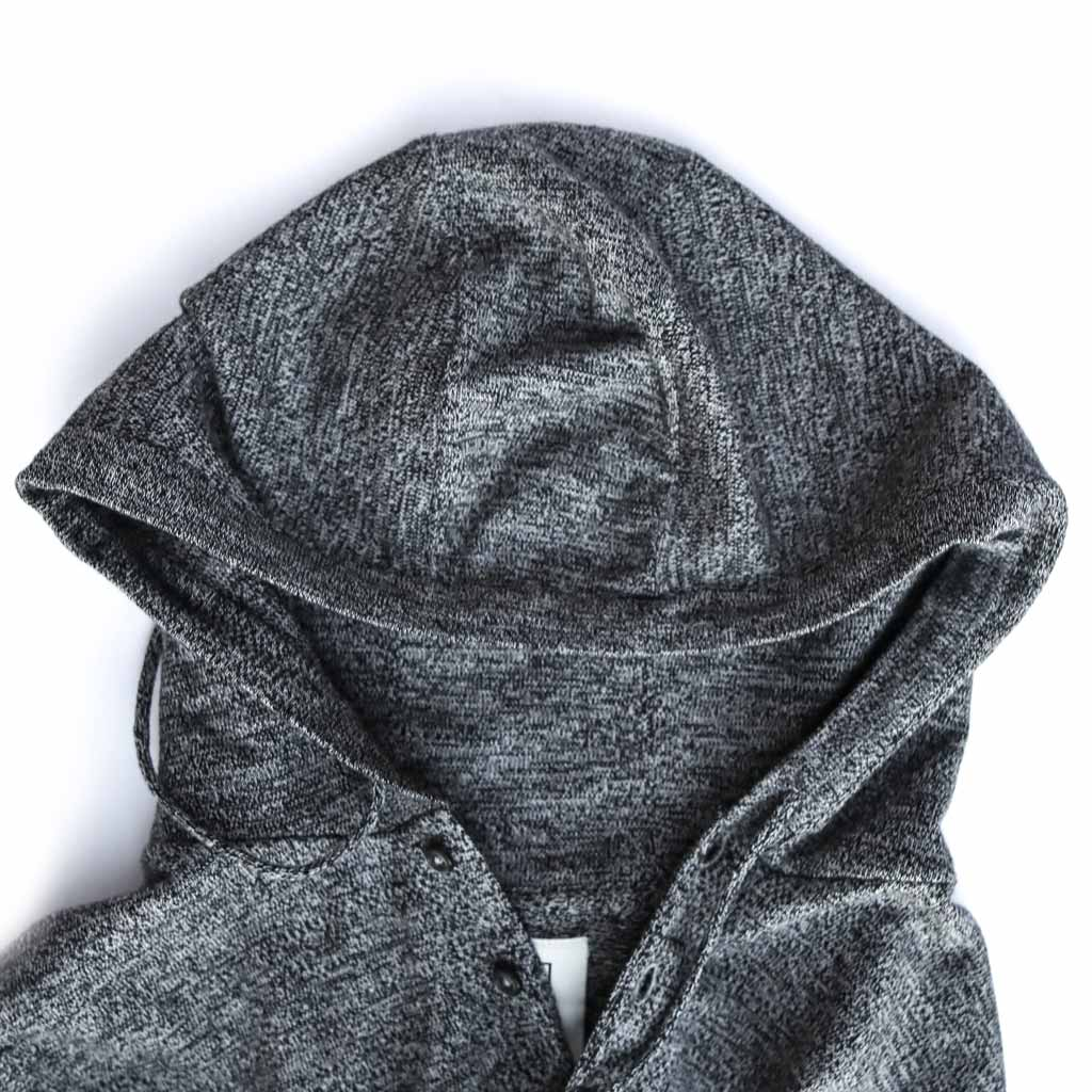 Men's Fitted Sleeveless Cotton Hoodie - Close-up