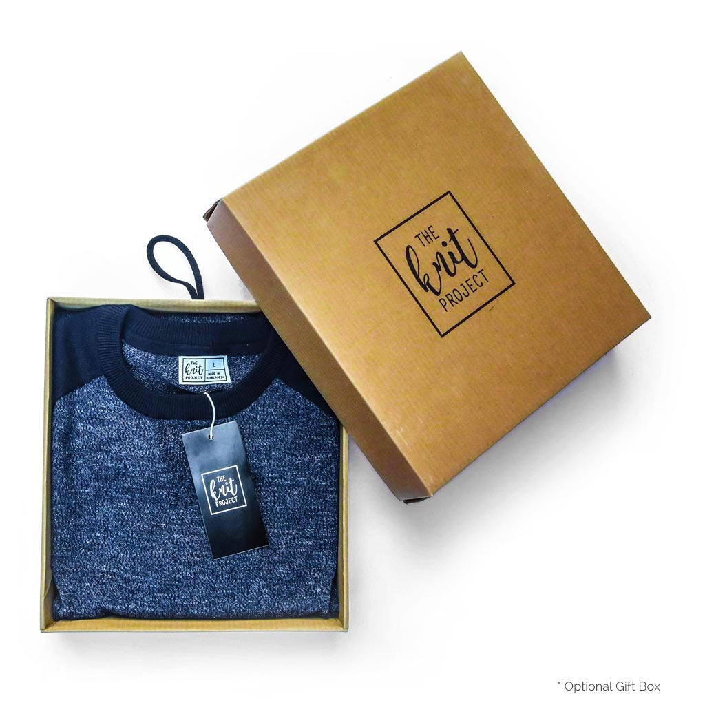 Men's Contrast Sleeve Crewneck Sweater - Box