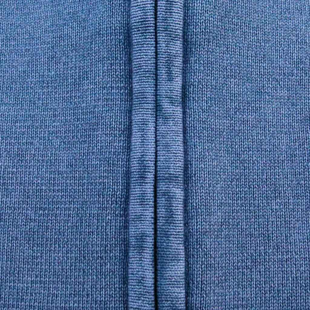 Men's Faded Zipped Mockneck Sweater - Close-up