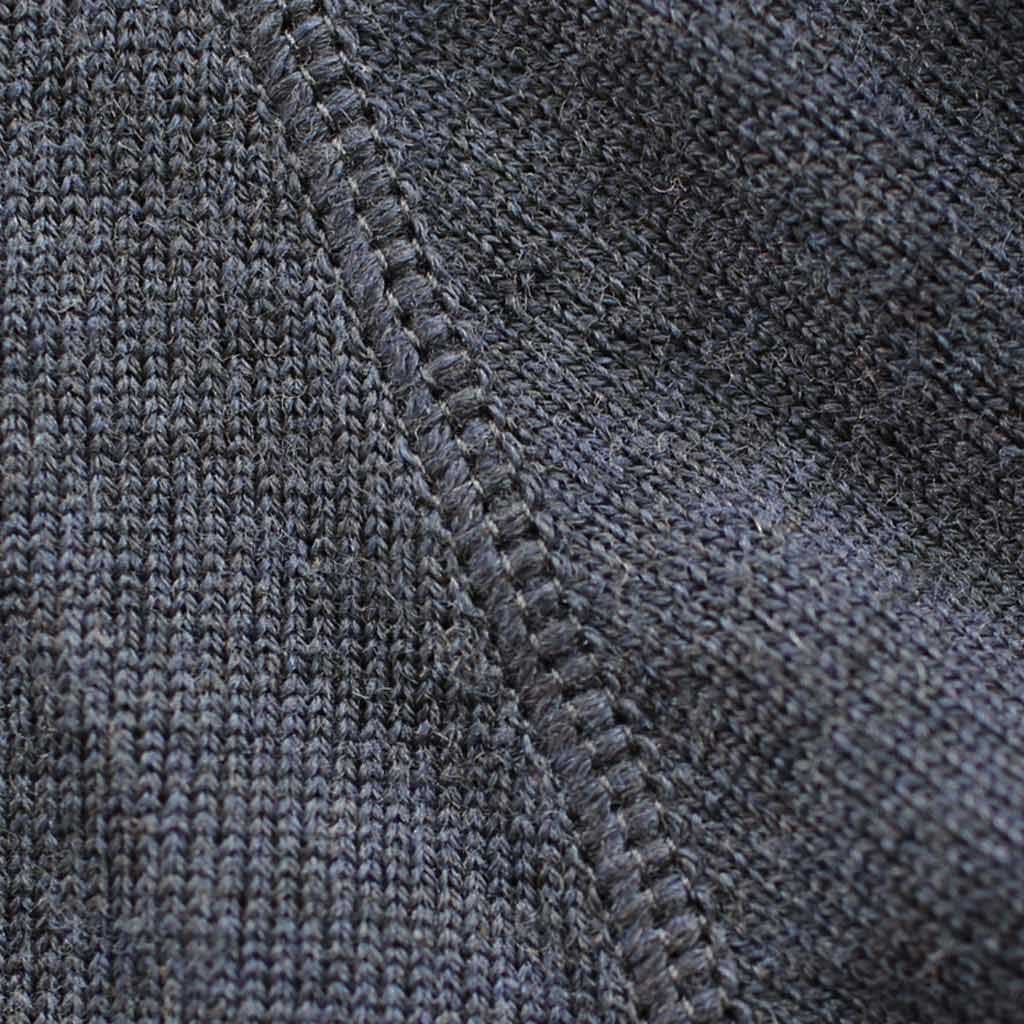 Men's Fitted Merino Turtleneck Sweater - Close-up