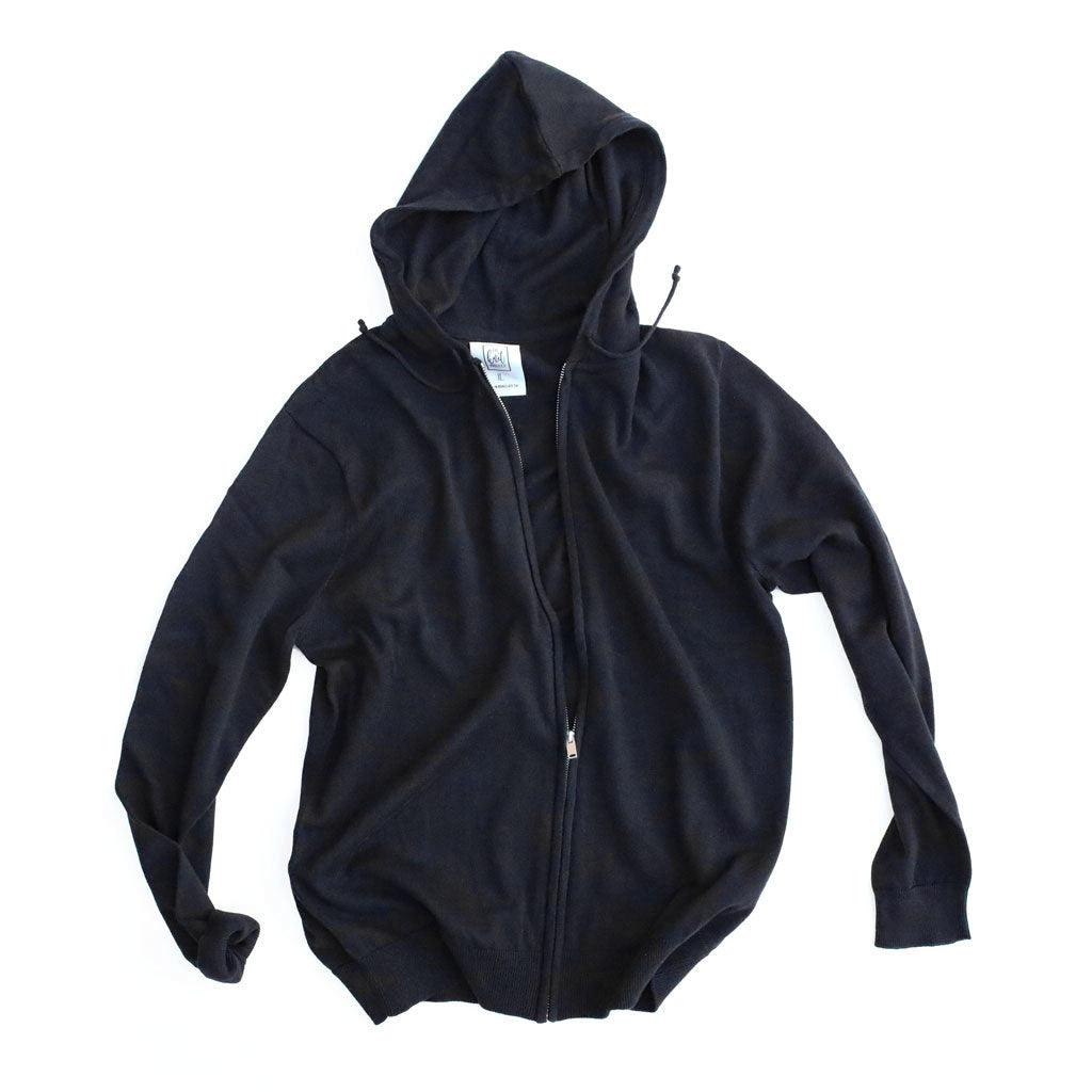 Men's Cotton Full-Zipped Hoodie - Bird's Eye