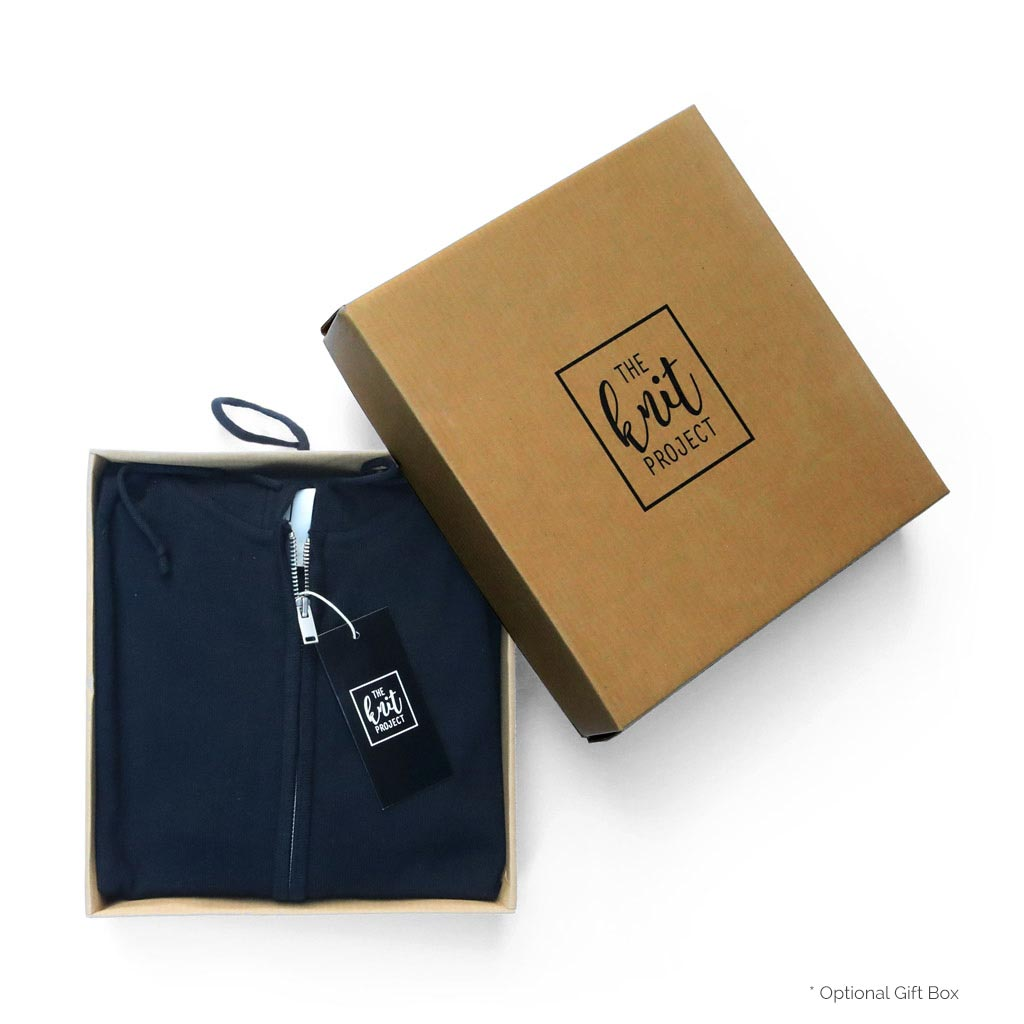 Men's Cotton Full-Zipped Hoodie - Box