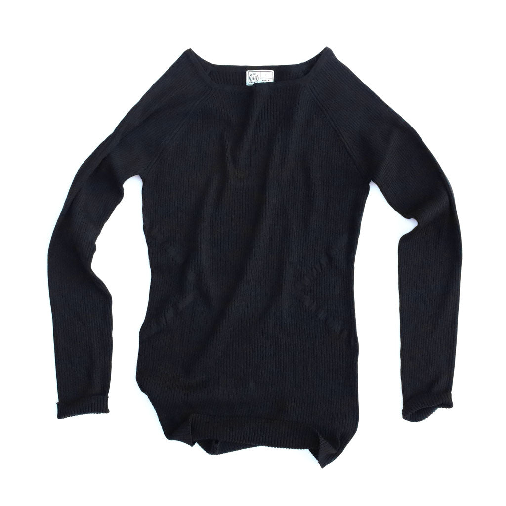 Women's Fitted Tapered Ribbed Boatneck Sweater - Bird's Eye