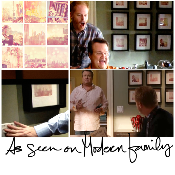 downtown LA print as seen on Modern Family