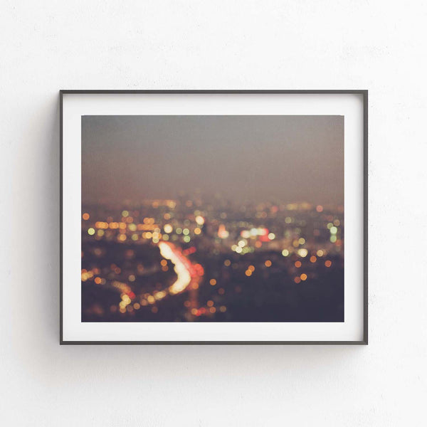 Framed print of LA at night