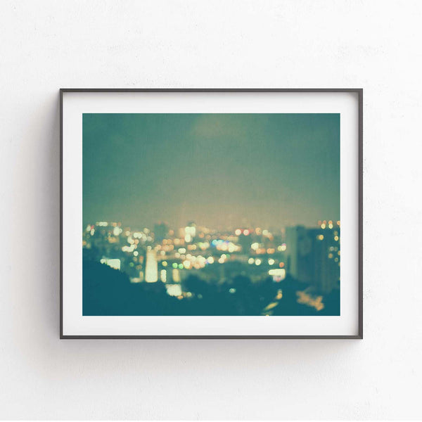 Hollywood at Night Framed Photograph