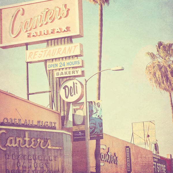Canters Deli photo with a vintage look.