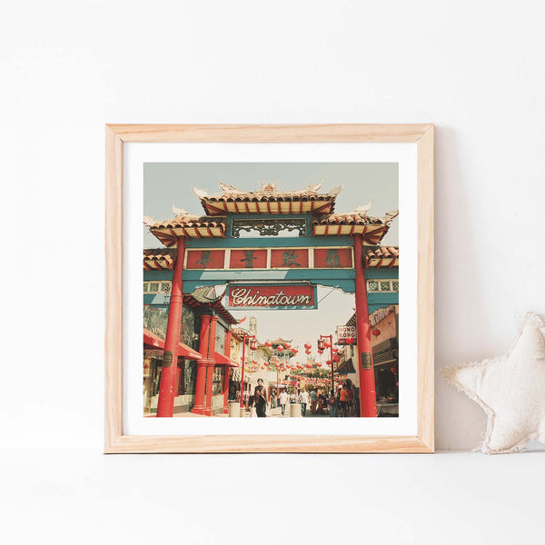 Framed Chinatown photo. Taken in Los Angeles
