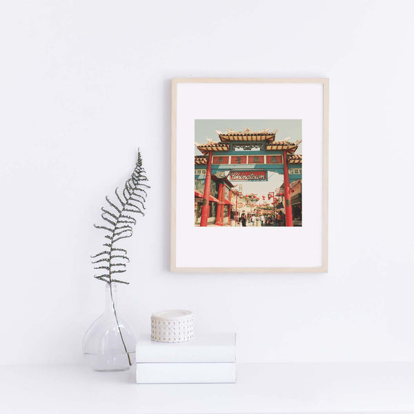 Framed photo of LA's Chinatown